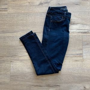 AE Dark Wash Super Skinny Jegging - 2 Short